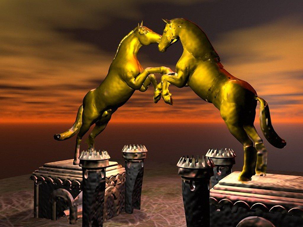 Vaes Dothraki Stallions Statue